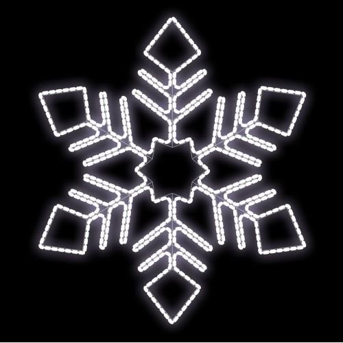 Световая снежинка (размер: 1000 х 1155)