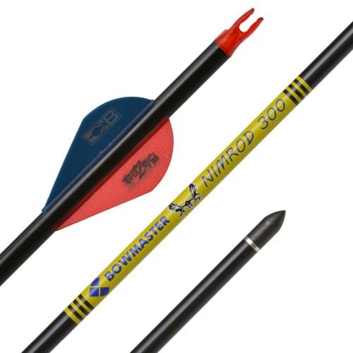 Стрела карбоновая Bowmaster NIMROD (оперение Blaser)