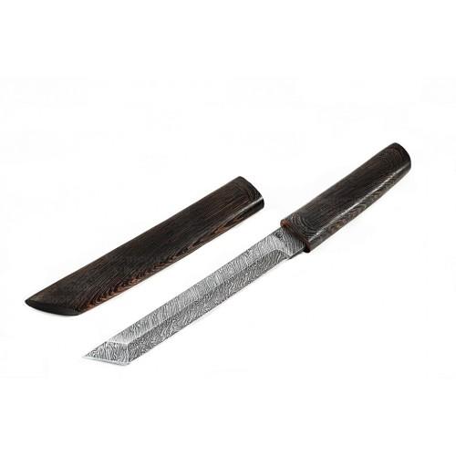 Нож Танто в ножнах (дамасская стали)
